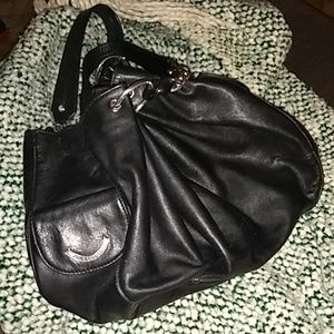 Juicy Couture Black leather hobo bag